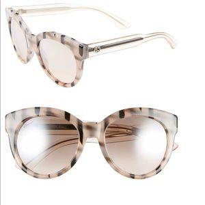 GUCCI – Women 53mm Square Sunglasses PNK BLK STRIP